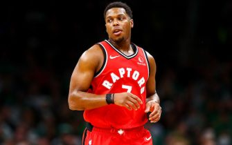BOSTON, MA - DECEMBER 28:  Kyle Lowry #7 of the Toronto Raptors runs up court during a game against the Boston Celtics at TD Garden on December 28, 2019 in Boston, Massachusetts. NOTE TO USER: User expressly acknowledges and agrees that, by downloading and or using this photograph, User is consenting to the terms and conditions of the Getty Images License Agreement. (Photo by Adam Glanzman/Getty Images)