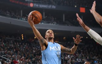 MILWAUKEE, WI - JANUARY 1: Shabazz Napier #13 of the Minnesota Timberwolves shoots the ball against the Milwaukee Bucks on January 1, 2020 at the Fiserv Forum Center in Milwaukee, Wisconsin. NOTE TO USER: User expressly acknowledges and agrees that, by downloading and or using this Photograph, user is consenting to the terms and conditions of the Getty Images License Agreement. Mandatory Copyright Notice: Copyright 2020 NBAE (Photo by Gary Dineen/NBAE via Getty Images).