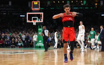 BOSTON, MASSACHUSETTS - JANUARY 03: Trae Young #11 of the Atlanta Hawks reacts at the end of the game against the Boston Celtics  at TD Garden on January 03, 2020 in Boston, Massachusetts. The Celtics defeat the Hawks 109-106.  (Photo by Maddie Meyer/Getty Images)