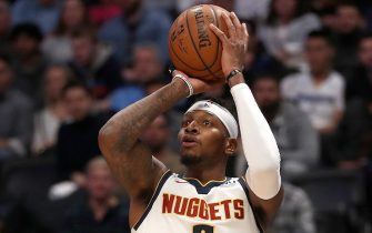 DENVER, COLORADO - DECEMBER 14: Torrey Craig #3 of the Denver Nuggets puts up a shot against the Oklahoma City Thunder in the third quarter at Pepsi Center on December 14, 2019 in Denver, Colorado. NOTE TO USER: User expressly acknowledges and agrees that, by downloading and or using this photograph, User is consenting to the terms and conditions of the Getty Images License Agreement. (Photo by Matthew Stockman/Getty Images)