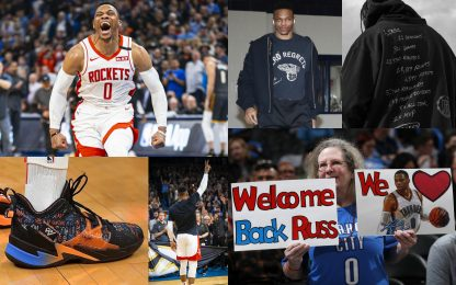 Il ritorno di Westbrook a OKC: le foto più belle