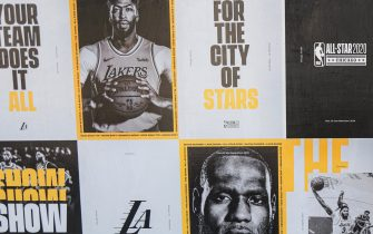 I poster con LeBron James e Anthony Davis