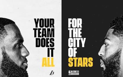 LeBron & Davis All-Star: la campagna invade L.A.