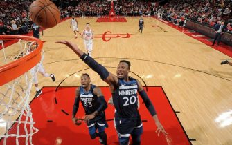 HOUSTON, TX - JANUARY 11: Josh Okogie #20 of the Minnesota Timberwolves shoots the ball against the Houston Rockets on January 11, 2020 at the Toyota Center in Houston, Texas. NOTE TO USER: User expressly acknowledges and agrees that, by downloading and or using this photograph, User is consenting to the terms and conditions of the Getty Images License Agreement. Mandatory Copyright Notice: Copyright 2020 NBAE (Photo by Bill Baptist/NBAE via Getty Images)