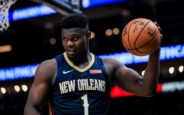 ATLANTA, GA - OCTOBER 7: Zion Williamson #1 of the New Orleans Pelicans looks on during a preseason game against the Atlanta Hawks at State Farm Arena on October 7, 2019 in Atlanta, Georgia. NOTE TO USER: User expressly acknowledges and agrees that, by downloading and or using this photograph, User is consenting to the terms and conditions of the Getty Images License Agreement. (Photo by Carmen Mandato/Getty Images)