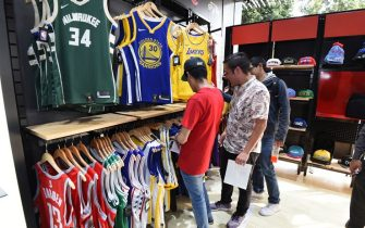MEXICO CITY, MEXICO - DECEMBER 10: A general overall view of the grand opening of NBA Store in Mexico City as part of the NBA Mexico Games 2019 on December 10, 2019 in Mexico City, Mexico. NOTE TO USER: User expressly acknowledges and agrees that, by downloading and/or using this photograph, user is consenting to the terms and conditions of the Getty Images License Agreement.  Mandatory Copyright Notice: Copyright 2019 NBAE (Photo by Andrew D. Bernstein/NBAE via Getty Images)