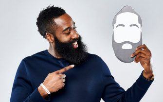 TORONTO, ON - FEBRUARY 12:  James Harden #13 of the Houston Rockets poses for a portrait with the twitter emoji during NBA All-Star Weekend on February 12, 2016 at the Sheraton Centre in Toronto, Ontario Canada. NOTE TO USER: User expressly acknowledges and agrees that, by downloading and/or using this photograph, user is consenting to the terms and conditions of the Getty Images License Agreement.  Mandatory Copyright Notice: Copyright 2016 NBAE (Photo by Jennifer Pottheiser/NBAE via Getty Images)