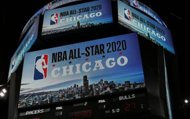 CHICAGO, IL - NOVEMBER 10: A general overall view of the NBA All-Star 2020 Announcement before the game between the Indiana Pacers and the Chicago Bulls on November 10, 2017 at the United Center in Chicago, Illinois. NOTE TO USER: User expressly acknowledges and agrees that, by downloading and or using this Photograph, user is consenting to the terms and conditions of the Getty Images License Agreement. Mandatory Copyright Notice: Copyright 2017 NBAE (Photo by Gary Dineen/NBAE via Getty Images)