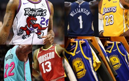 Le maglie più vendute in NBA. CLASSIFICA
