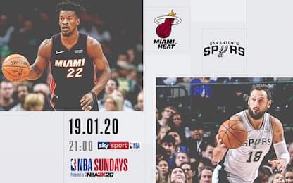 NBA Sundays: Miami fa visita a San Antonio su Sky
