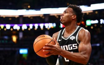 BOSTON, MA - NOVEMBER 25:  Buddy Hield #24 of the Sacramento Kings shoots the ball during a game against the Boston Celtics at TD Garden on November 25, 2019 in Boston, Massachusetts. NOTE TO USER: User expressly acknowledges and agrees that, by downloading and or using this photograph, User is consenting to the terms and conditions of the Getty Images License Agreement. (Photo by Adam Glanzman/Getty Images)