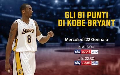 La partita da 81 punti di Kobe da rivivere su Sky
