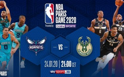NBA Paris Game: Charlotte-Milwaukee alle 21 su Sky