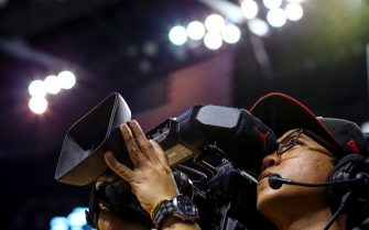 MIAMI, FL - MARCH 3: A video camera operator looks on during the game between the Miami Heat and the Phoenix Suns at the American Airlines Arena on March 3, 2016 in Miami, Florida.  NOTE TO USER: User expressly acknowledges and agrees that, by downloading and or using this photograph, User is consenting to the terms and conditions of the Getty Images License Agreement. (Photo by Rob Foldy/Getty Images)