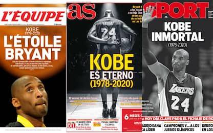 Morte Kobe Bryant: le prime pagine dei giornali