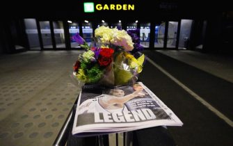 BOSTON, MASSACHUSETTS - JANUARY 27: A memorial remembering former NBA star Kobe Bryant is seen at TD Garden on January 27, 2020 in Boston, Massachusetts. Bryant and his daughter Gianna were among nine people killed on January 26, 2020 in a helicopter crash in Calabasas, California. (Photo by Tim Bradbury/Getty Images)