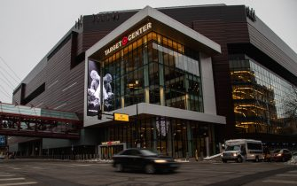 MINNEAPOLIS, MN - JANUARY 27: A display honoring NBA legend Kobe Bryant and his daughter Gianna Bryant is shown outside of the Target Center prior to a game between the Sacramento Kings and the Minnesota Timberwolves on January 27, 2020 in Minneapolis, Minnesota. NOTE TO USER: User expressly acknowledges and agrees that, by downloading and or using this Photograph, user is consenting to the terms and conditions of the Getty Images License Agreement. (Photo by David Berding/Getty Images)
