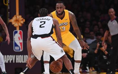 Lakers-Clippers non si gioca: partita rinviata