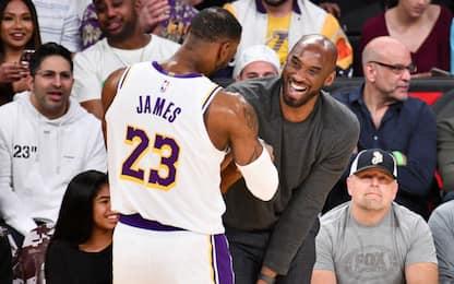 """LeBron James: """"Kobe, raccolgo io il tuo testimone"""""""