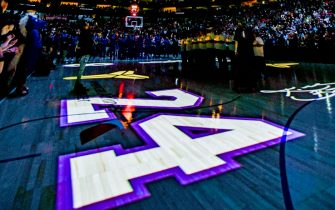 DALLAS, TX - JANUARY 28: Generic photo of signage at the arena honoring Kobe Bryant before the game on January 28, 2020 at the American Airlines Center in Dallas, Texas. NOTE TO USER: User expressly acknowledges and agrees that, by downloading and or using this photograph, User is consenting to the terms and conditions of the Getty Images License Agreement. Mandatory Copyright Notice: Copyright 2020 NBAE (Photo by Glenn James/NBAE via Getty Images)