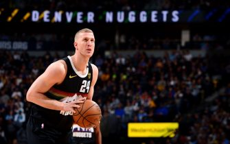 DENVER, CO - JANUARY 15: Mason Plumlee #24 of the Denver Nuggets shoots a free throw during a game against the Charlotte Hornets on January 15, 2020 at the Pepsi Center in Denver, Colorado. NOTE TO USER: User expressly acknowledges and agrees that, by downloading and/or using this Photograph, user is consenting to the terms and conditions of the Getty Images License Agreement. Mandatory Copyright Notice: Copyright 2020 NBAE (Photo by Bart Young/NBAE via Getty Images)