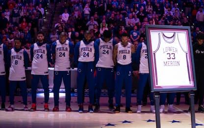 Philadelphia onora Kobe Bryant, 11 punti per Melli