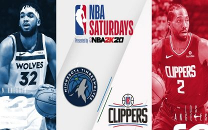 NBA Saturdays: Clippers-Timberwolves su Sky Sport