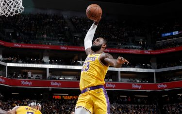 SACRAMENTO, CA - FEBRUARY 1: LeBron James #23 of the Los Angeles Lakers drives to the basket against the Sacramento Kings on February 1, 2020 at Golden 1 Center in Sacramento, California. NOTE TO USER: User expressly acknowledges and agrees that, by downloading and or using this Photograph, user is consenting to the terms and conditions of the Getty Images License Agreement. Mandatory Copyright Notice: Copyright 2020 NBAE (Photo by Rocky Widner/NBAE via Getty Images)
