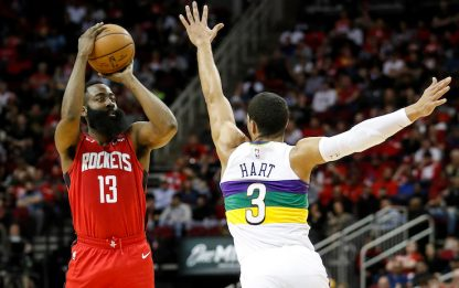 Harden gioca da MVP, Houston batte New Orleans