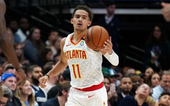 DALLAS, TX - FEBRUARY 1: Trae Young #11 of the Atlanta Hawks handles the ball during the game against the Dallas Mavericks on February 1, 2020 at the American Airlines Center in Dallas, Texas. NOTE TO USER: User expressly acknowledges and agrees that, by downloading and or using this photograph, User is consenting to the terms and conditions of the Getty Images License Agreement. Mandatory Copyright Notice: Copyright 2020 NBAE (Photo by Darren Carroll/NBAE via Getty Images)