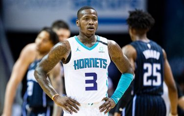 CHARLOTTE, NORTH CAROLINA - FEBRUARY 03: Terry Rozier #3 of the Charlotte Hornets during the third quarter during their game against the Orlando Magic at the Spectrum Center on February 03, 2020 in Charlotte, North Carolina. NOTE TO USER: User expressly acknowledges and agrees that, by downloading and/or using this photograph, user is consenting to the terms and conditions of the Getty Images License Agreement. (Photo by Jacob Kupferman/Getty Images)