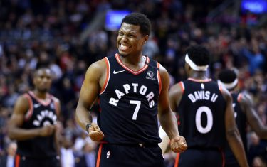 TORONTO, ON - FEBRUARY 05:  Kyle Lowry #7 of the Toronto Raptors reacts during the second half of an NBA game against the Indiana Pacers at Scotiabank Arena on February 05, 2020 in Toronto, Canada. The Raptors defeated the Pacers 119-118. NOTE TO USER: User expressly acknowledges and agrees that, by downloading and or using this photograph, User is consenting to the terms and conditions of the Getty Images License Agreement.  (Photo by Vaughn Ridley/Getty Images)