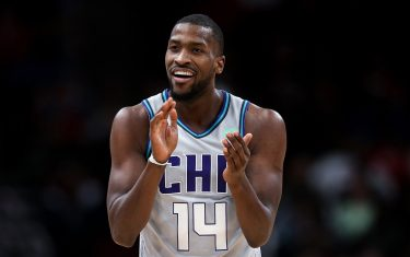 CHICAGO, ILLINOIS - DECEMBER 13: Michael Kidd-Gilchrist #14 of the Charlotte Hornets reacts in the second quarter against the Chicago Bulls at the United Center on December 13, 2019 in Chicago, Illinois. NOTE TO USER: User expressly acknowledges and agrees that, by downloading and or using this photograph, User is consenting to the terms and conditions of the Getty Images License Agreement. (Photo by Dylan Buell/Getty Images)
