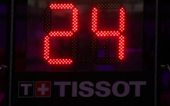 MIAMI, FL - JANUARY 27: A photo of the shot clock honoring Kobe Bryant before the game on January 27, 2020 at American Airlines Arena in Miami, Florida. NOTE TO USER: User expressly acknowledges and agrees that, by downloading and or using this Photograph, user is consenting to the terms and conditions of the Getty Images License Agreement. Mandatory Copyright Notice: Copyright 2020 NBAE (Photo by Issac Baldizon/NBAE via Getty Images)