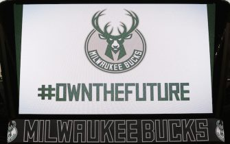MILWAUKEE, WI - APRIL 13:  The Milwaukee Bucks unveil their new logos on April 13, 2015 at the BMO Harris Bradley Center in Milwaukee, Wisconsin. NOTE TO USER:  User expressly acknowledges and agrees that, by downloading and or using this Photograph, user is consenting to the terms and conditions of the Getty Images License Agreement.  Mandatory Copyright Notice:  Copyright 2015 NBAE (Photo by Gary Dineen/NBAE via Getty Images)