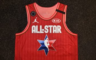 CHICAGO, IL - FEBRUARY 12: The Giannis Antetokounmpo All Star top during the Uniform Shoot on Wednesday, February 12, 2020 at the United Center in Chicago, Illinois. NOTE TO USER: User expressly acknowledges and agrees that, by downloading and or using this Photograph, user is consenting to the terms and conditions of the Getty Images License Agreement. Mandatory Copyright Notice: Copyright 2020 NBAE (Photo by David Dow/NBAE via Getty Images)