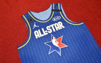 CHICAGO, IL - FEBRUARY 12: The LeBron James All Star jersey during the Uniform Shoot on Wednesday, February 12, 2020 at the United Center in Chicago, Illinois. NOTE TO USER: User expressly acknowledges and agrees that, by downloading and or using this Photograph, user is consenting to the terms and conditions of the Getty Images License Agreement. Mandatory Copyright Notice: Copyright 2020 NBAE (Photo by David Dow/NBAE via Getty Images)