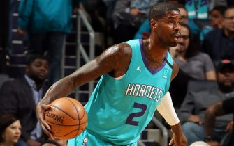CHARLOTTE, NC - JANUARY 28: Marvin Williams #2 of the Charlotte Hornets handles the ball during the game against the New York Knicks on January 28, 2020 at Spectrum Center in Charlotte, North Carolina. NOTE TO USER: User expressly acknowledges and agrees that, by downloading and or using this photograph, User is consenting to the terms and conditions of the Getty Images License Agreement.  Mandatory Copyright Notice:  Copyright 2020 NBAE (Photo by Brock Williams-Smith/NBAE via Getty Images)
