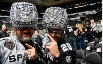 SAN ANTONIO, TX - DECEMBER 3: San Antonio Spurs fans seen prior to the game against the Houston Rockets on December 3, 2019 at the AT&T Center in San Antonio, Texas. NOTE TO USER: User expressly acknowledges and agrees that, by downloading and or using this photograph, user is consenting to the terms and conditions of the Getty Images License Agreement. Mandatory Copyright Notice: Copyright 2019 NBAE (Photos by Logan Riely/NBAE via Getty Images)