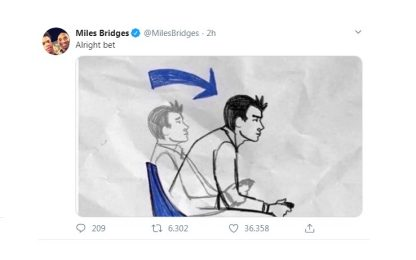Bridges: il tweet a metà gara poi il titolo di MVP