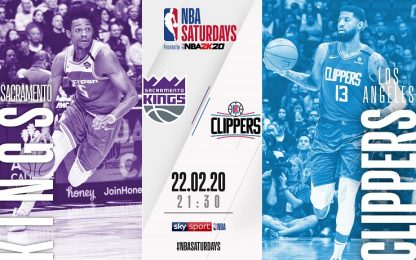 NBA Saturdays: Clippers-Kings sabato su Sky