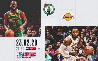 Lakers-Celtics in streaming domenica alle 21.30
