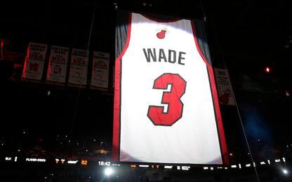 """Miami ritira la 3 di Dwyane Wade: """"Sono grato"""""""