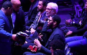 LOS ANGELES, CALIFORNIA - FEBRUARY 24: Former coach Phil Jackson attends The Celebration of Life for Kobe & Gianna Bryant at Staples Center on February 24, 2020 in Los Angeles, California. (Photo by Kevork Djansezian/Getty Images)