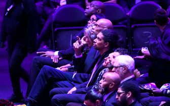 LOS ANGELES, CALIFORNIA - FEBRUARY 24: Kareem Abdul Jabar during The Celebration of Life for Kobe & Gianna Bryant at Staples Center on February 24, 2020 in Los Angeles, California. (Photo by Kevork Djansezian/Getty Images)