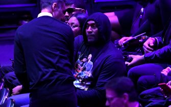 LOS ANGELES, CALIFORNIA - FEBRUARY 24: Former Los Angeles Laker Metta World Peace attends The Celebration of Life for Kobe & Gianna Bryant at Staples Center on February 24, 2020 in Los Angeles, California. (Photo by Kevork Djansezian/Getty Images)