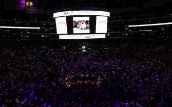 LOS ANGELES, CALIFORNIA - FEBRUARY 24: A general view before the start of The Celebration of Life for Kobe & Gianna Bryant at Staples Center on February 24, 2020 in Los Angeles, California. (Photo by Kevork Djansezian/Getty Images)