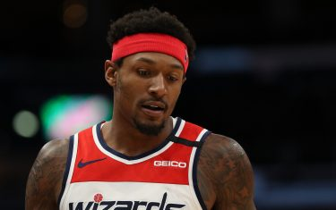 WASHINGTON, DC - FEBRUARY 21: Bradley Beal #3 of the Washington Wizards in action against the Cleveland Cavaliers at Capital One Arena on February 21, 2020 in Washington, DC. (Photo by Patrick Smith/Getty Images)