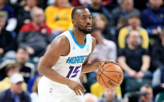 INDIANAPOLIS, INDIANA - FEBRUARY 11:    Kemba Walker #15 of the Charlotte Hornets dribbles the ball against the Indiana Pacers at Bankers Life Fieldhouse on February 11, 2019 in Indianapolis, Indiana. (Photo by Andy Lyons/Getty Images)