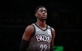 WASHINGTON, DC - FEBRUARY 26: Caris LeVert #22 of the Brooklyn Nets shoots a free throw during a game against the Washington Wizards on February 26, 2020 at Capital One Arena in Washington, DC. NOTE TO USER: User expressly acknowledges and agrees that, by downloading and or using this Photograph, user is consenting to the terms and conditions of the Getty Images License Agreement. Mandatory Copyright Notice: Copyright 2020 NBAE (Photo by Stephen Gosling/NBAE via Getty Images)